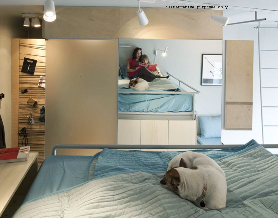 sharing one bedroom apartment