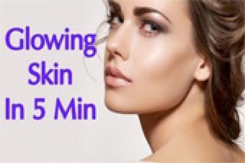 glowing skin in minutes