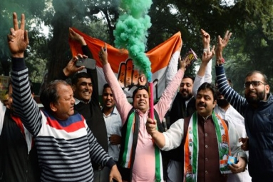 Election Results: Congress Celebrates Its Triumph at Headquarters
