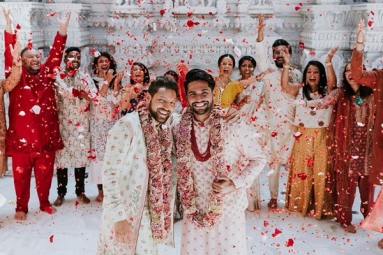 Indian American Gay Couple Ties the Knot at BAPS Mandir in New Jersey