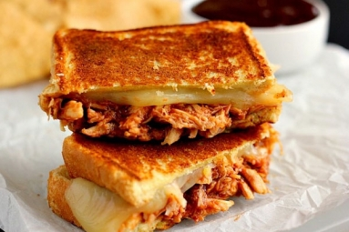 Shredded Chicken Cheese Sandwich Recipe