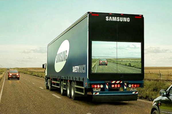 Samsung's new truck enabled with 'see-through' technology},{Samsung's new truck enabled with 'see-through' technology